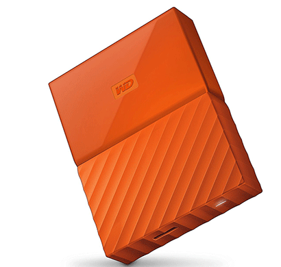 WD My Passport 2TB External Hard Drive (Orange)